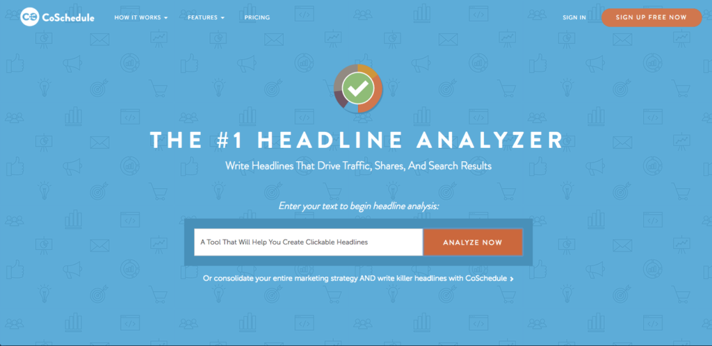 create great headlines with the headline analyzer